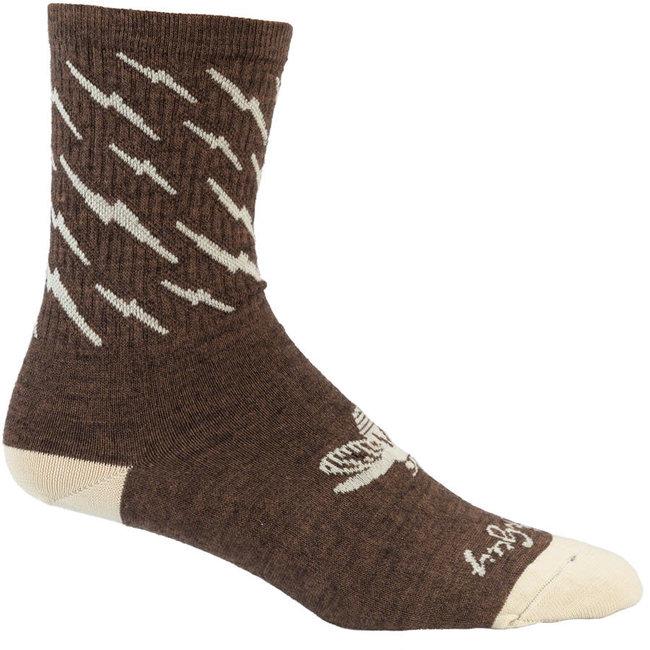 All-City Y'All-City Wool Socks - 5 inch, Brown/Tan, Small/Medium