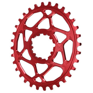 Absolute Black Absolute Black Oval SRAM DM (Boost 3mm Offset) Chainring, 32T - Red