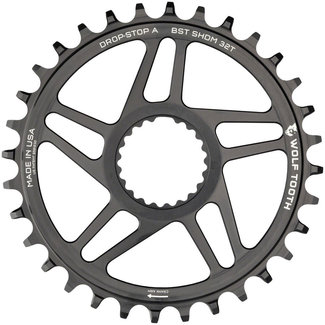 Wolf Tooth Components Wolf Tooth Direct Mount Chainring - 34t, Shimano Direct Mount, Drop Stop A, Boost, 3mm Offset, Black