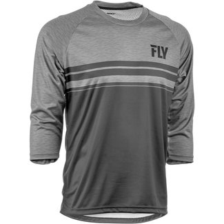 Fly Racing Fly Racing Ripa 3/4 Sleeve Jersey '19 Black, Heather, Charcoal Grey XXL