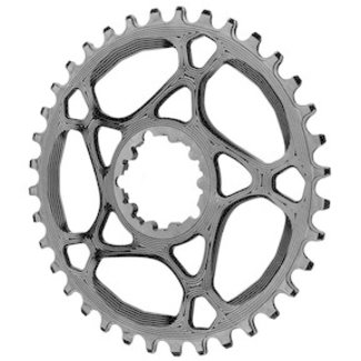 Absolute Black Absolute Black 34-Tooth Spiderless SRAM 3-Bolt Direct Mount Round Chainring, 3mm Offset (Boost)