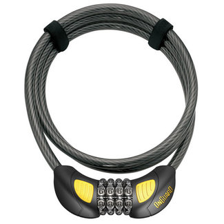 """OnGuard OnGuard Terrier Combo Cable Lock, Glow 72"""""""