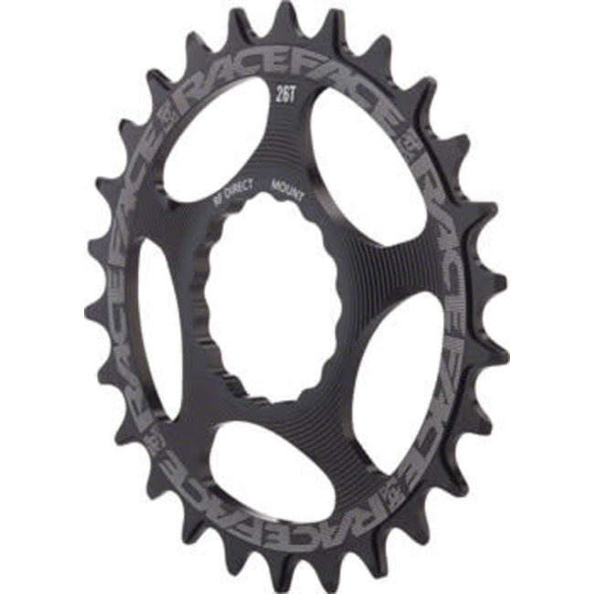 RaceFace Narrow Wide Chainring: Direct Mount CINCH, 24t, Black