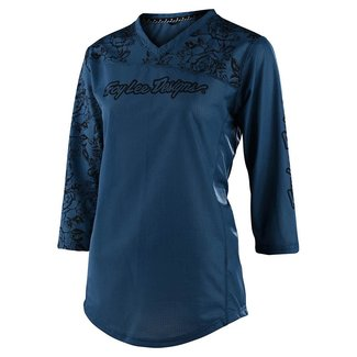 Troy Lee Designs Troy Lee Designs Womens Mischief Jersey, Floral Blue