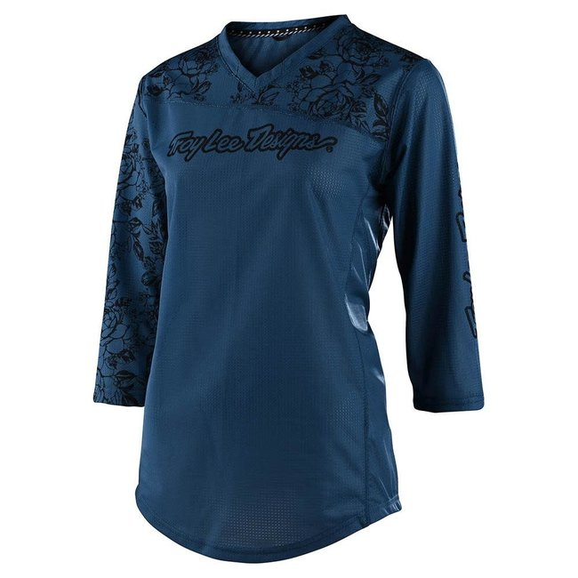 Troy Lee Designs Womens Mischief Jersey, Floral Blue