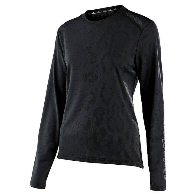 Troy Lee Designs Womens Lilium Long Sleeve Jersey, Black