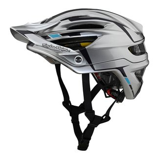 Troy Lee Designs Troy Lee Designs A2 MIPS Helmet, Sliver Silver/Burgundy