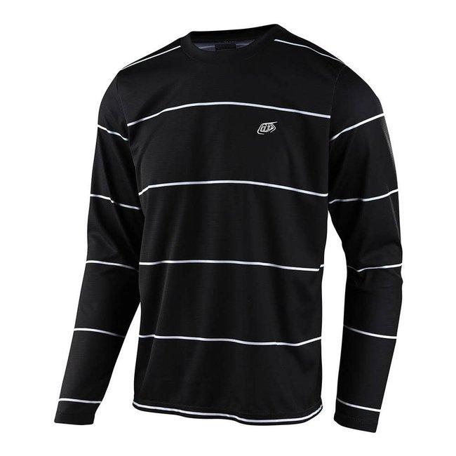 Troy Lee Designs Flowline Long Sleeve Jersey, Stacked Black