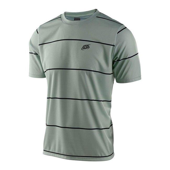 Troy Lee Designs Flowline Short Sleeve Jersey, Stacked Smoke Green