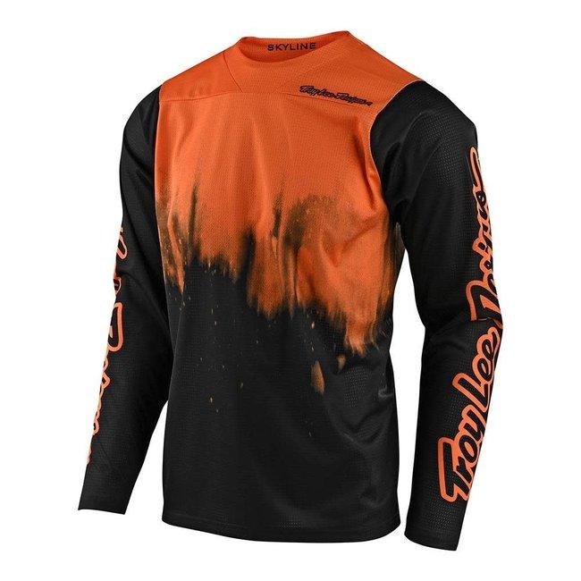 Troy Lee Designs Skyline Long Sleeve Jersey, Difuze Tangelo/Black