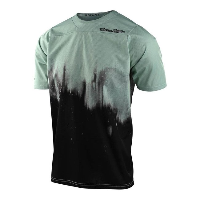 Troy Lee Designs Skyline Short Sleeve Jersey, Diffuze Smoke Green/Black