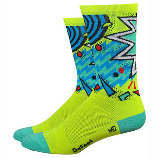 "DeFeet Aireator 6"" Shazam Socks, 7-9, Yellow"