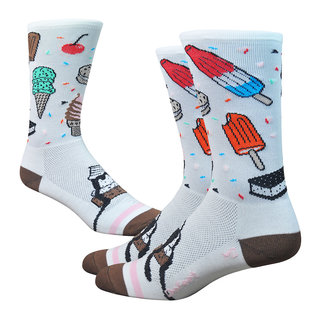 """DeFeet Aireator 6"""" ISCREAM, 9.5-11.5, (White/Brown/Pink)"""