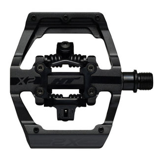 HT Components HT Pedals X2 Clipless Platform Pedals, CrMo - Stealth Black
