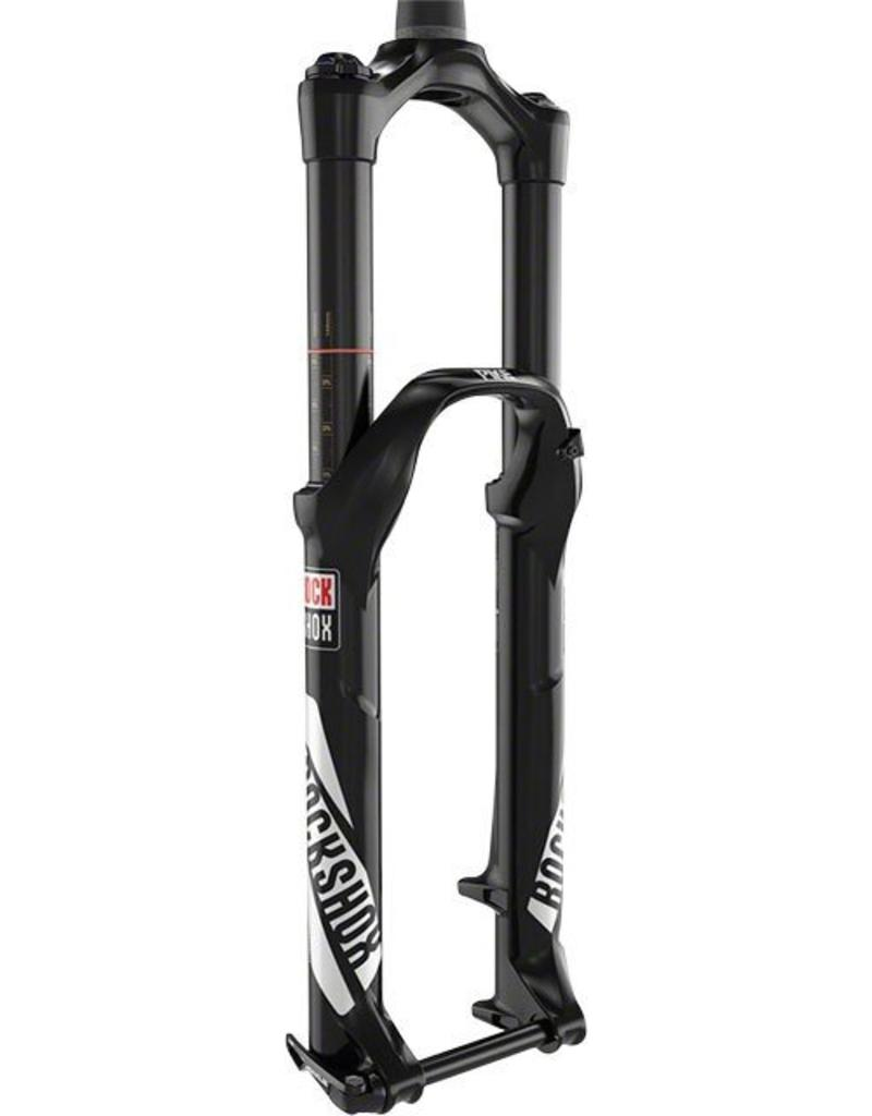 "RockShox RockShox Pike RCT3 Fork 27.5"" 130mm Maxle Lite15 Solo Air Crown Adjust Tapered A2, Black"