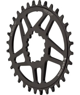 Wolf Tooth Components Wolf Tooth Components Powertrac Elliptical Drop-Stop Chainring: 32T, SRAM Direct Mount, 3mm Offset, For Boost Chainline, Powertrac Elliptica