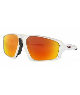 Oakley Oakley Field Jacket Matte White  Frame w/ PRIZM Ruby Lens