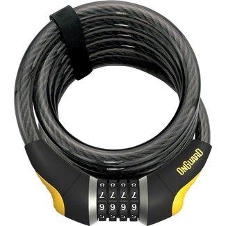 OnGuard OnGuard Doberman Combo Cable Lock: 6' x 15mm, Gray/Black/Yellow