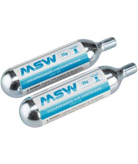 MSW CO2-25 CO2 Cartridge: 25g, Single