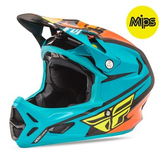 Fly Racing Fly Racing Werx Mips Rival Helmet Teal/Orange/Black Medium