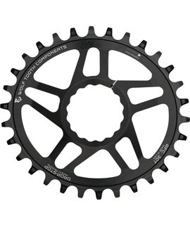 Wolf Tooth Components Wolf Tooth Components Powertrac Elliptical Direct Mount Drop-Stop Chainring: 34T, for RaceFace CINCH Cranks, Boost Chainline, Black