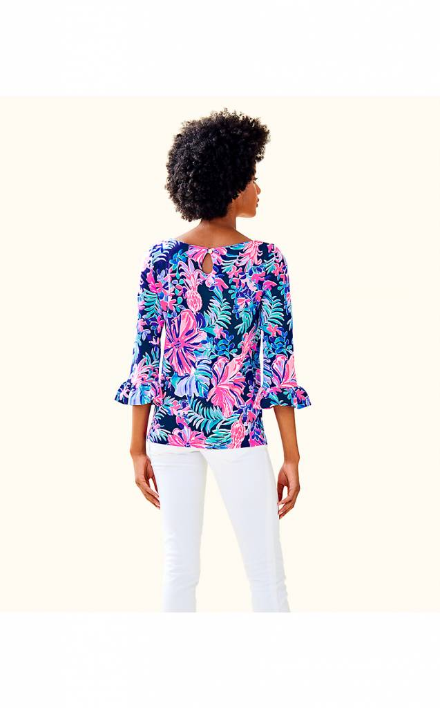 LILLY PULITZER WAVERLY RUFFLE TOP