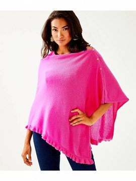 LILLY PULITZER HARP CASHMERE RUFFLE WRAP