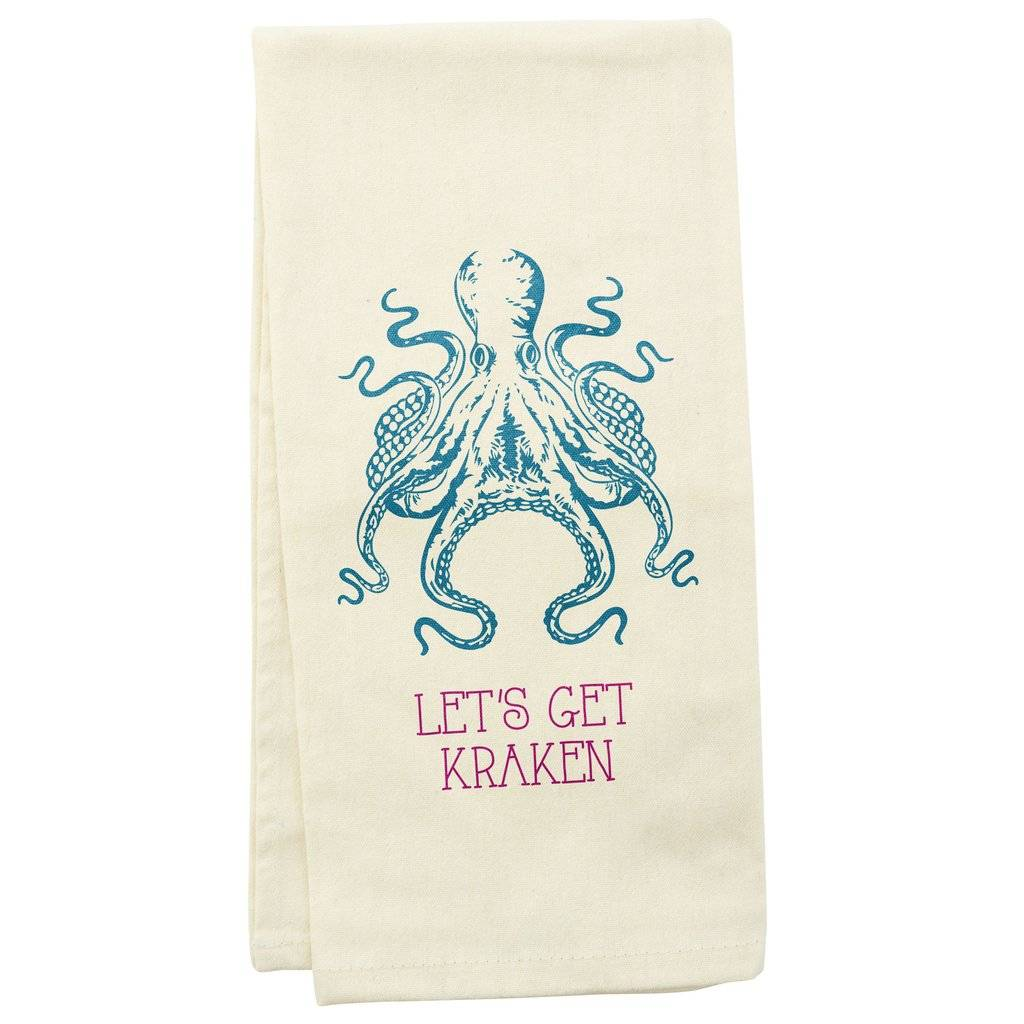 WIT TEA TOWEL OCTOPUS