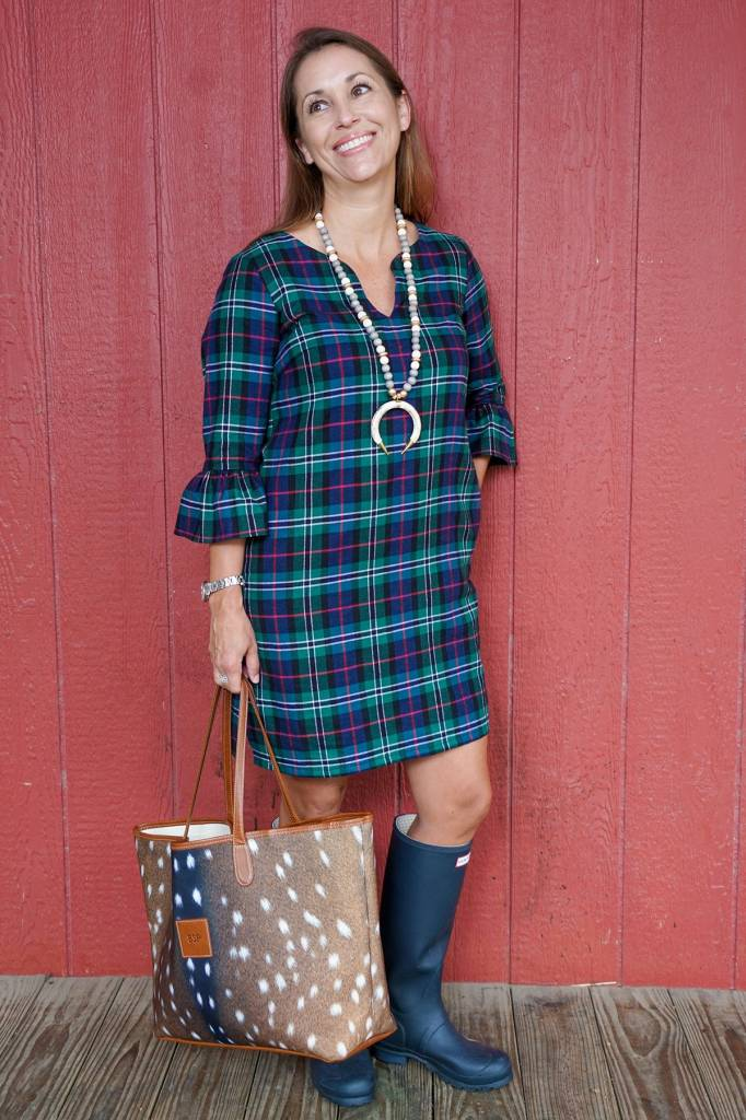 HALEY AND THE HOUND BELL SLEEVE DRESS