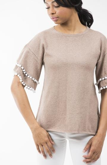 TWO BEES CASHMERE MISHA SLEEVE TEE