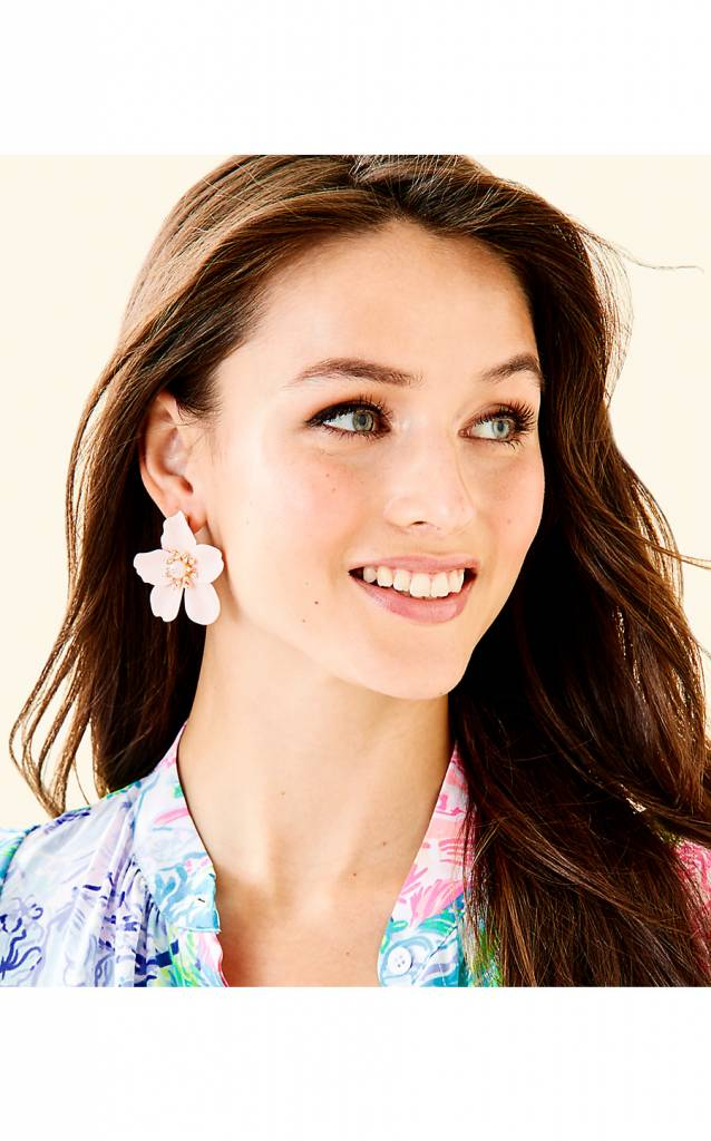 LILLY PULITZER  OVERSIZED ORCHID EARRINGS