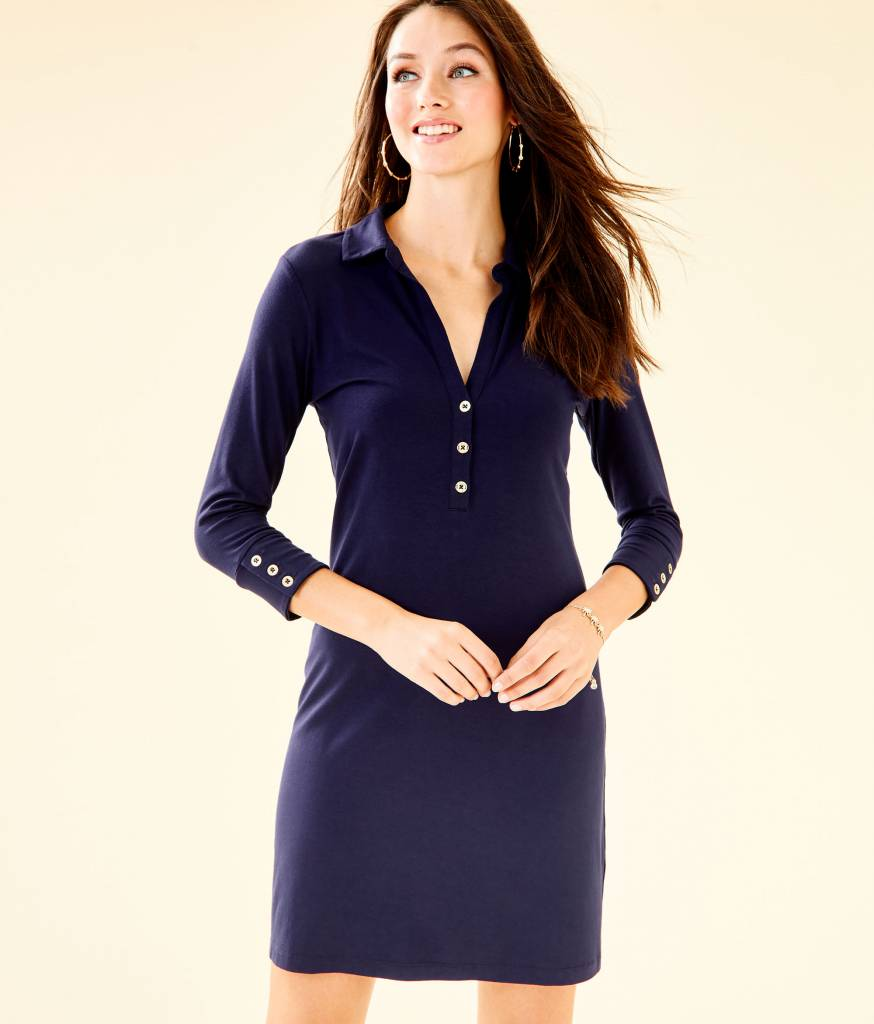 UPF 50+ ANSLEY POLO DRESS