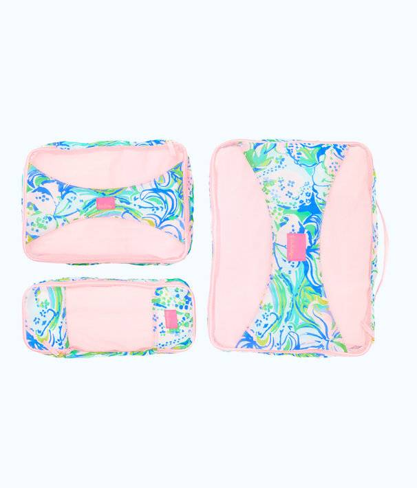 LILLY PULITZER  ESCAPE PACKING CUBE SET