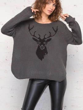 WOODEN SHIPS STAG CREWNECK