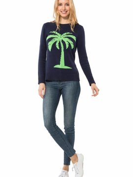 PALM TREE INTARSIA SWEATER
