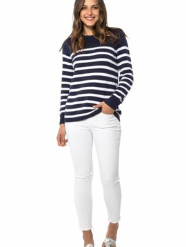 SAIL TO SABLE STRIPED COTTON SWEATER
