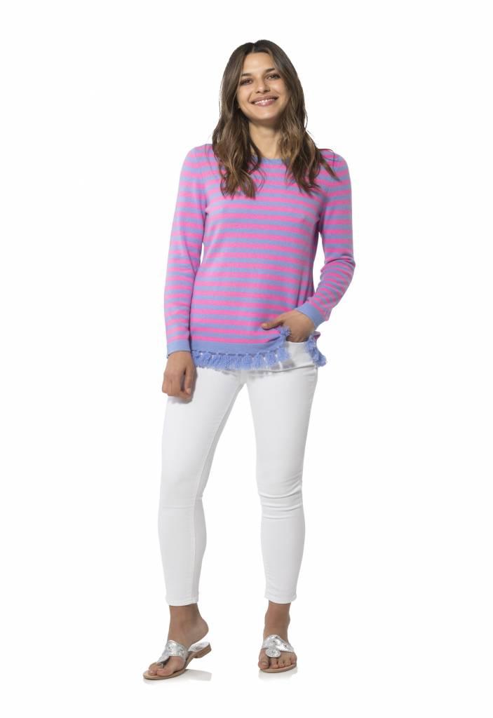 Striped Tassel Sweater