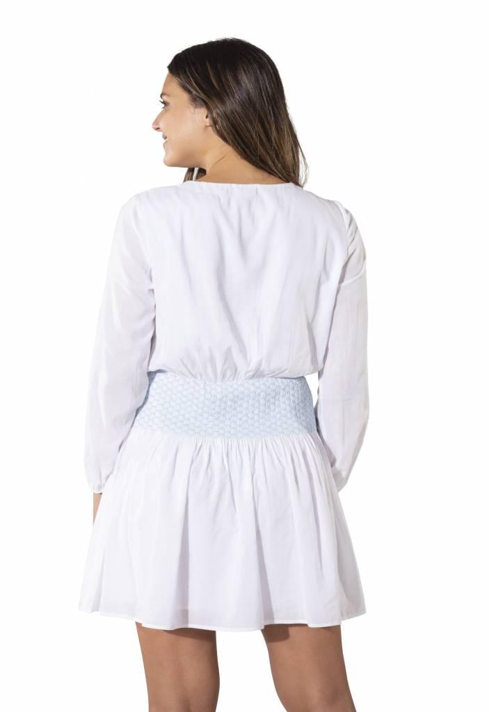 Cotton Shirting Smock Long Sleeve  Dress