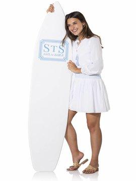 SAIL TO SABLE COTTON SHIRTING SMOCK LONG SLEEVE  DRESS