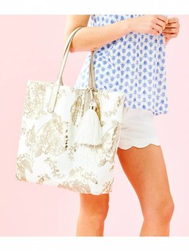 LILLY PULITZER REVERSIBLE SHOPPER TOTE