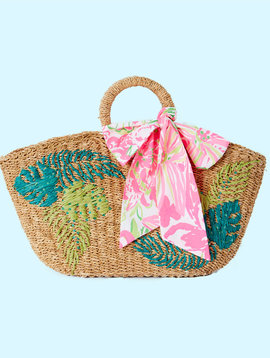 LILLY PULITZER FLORA STRAW TOTE