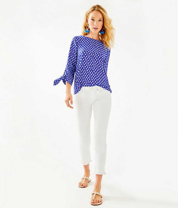 South Ocean Skinny Crop With Lace