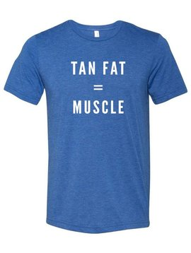SHEP GEAR TEE TAN FAT = MUSCLE