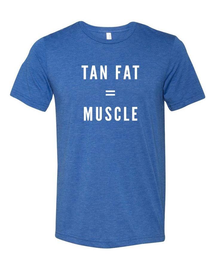 SHEP GEAR TEE TAN FAT = MUSCLE