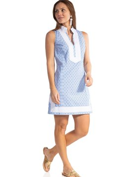 CLIP DOT SLEEVELESS CLASSIC TUNIC DRESS
