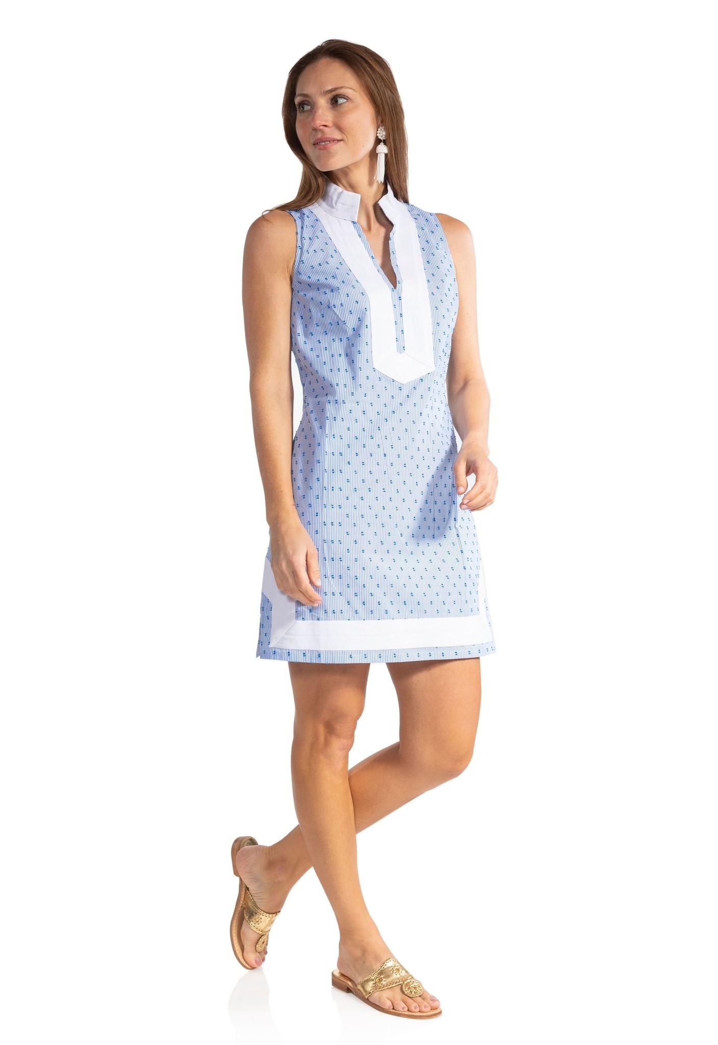 CLIP DOT SLEEVELESS CLASSIC TUNIC DRESS