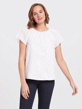 DRAPER JAMES JACQUARD GATHERED TOP