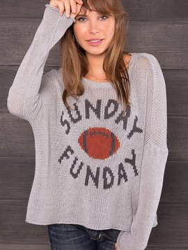 SUNDAY FUNDAY CREW SWEATER