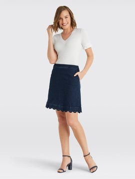 DRAPER JAMES Scallop Denim Skirt