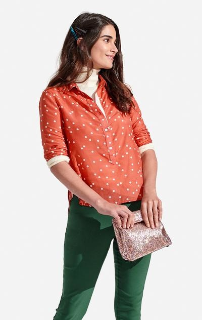 sunna top polka dot